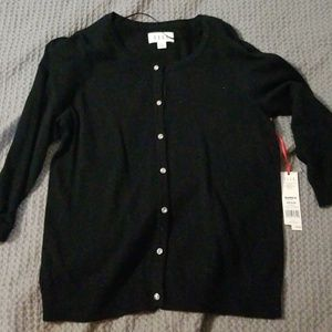 Black cardigan with crystal buttons